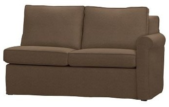 Cameron Roll Arm Right Arm Love Seat Sectional Slipcover Everydayvelvet Moch