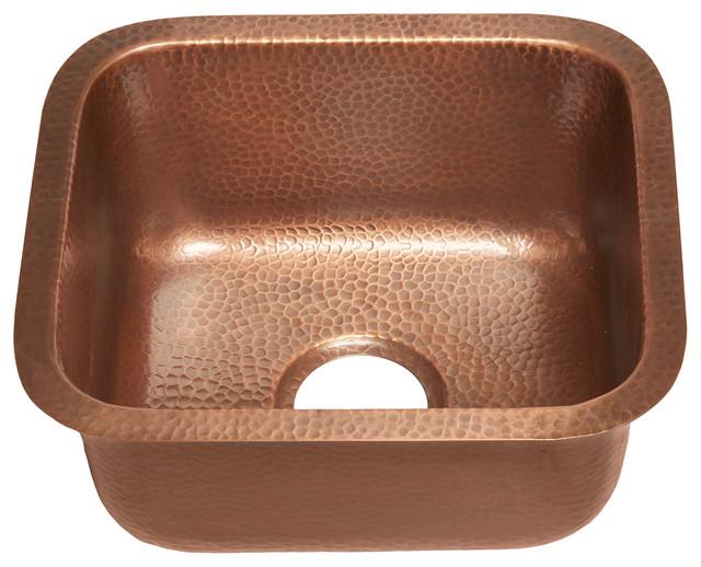 "Sisley 17"" Bar Prep Copper Sink, Antique Copper"