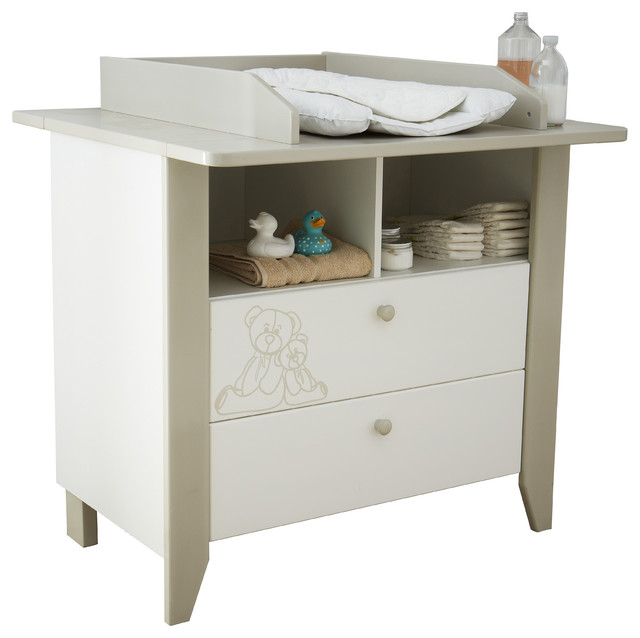 Ourson Baby Changing Unit Contemporary Baby Changing Tables By Meubles Demeyere