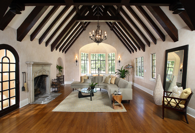 French normandy tudor remodel for Tudor interior design