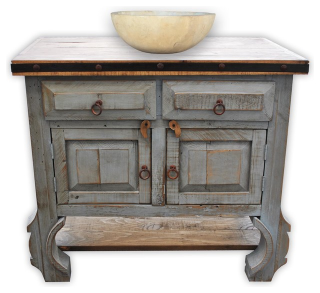 "Bathroom Vanity Farmhouse san pascual vanity, vintage gray, 36"" - farmhouse - bathroom"