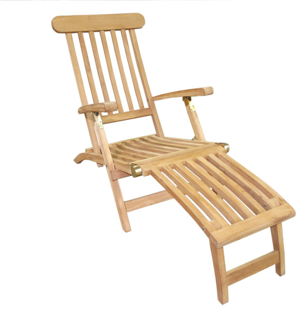 Teak Classic Steamer Chair Outdoor Lounge Chairs By D Art Collection Inc