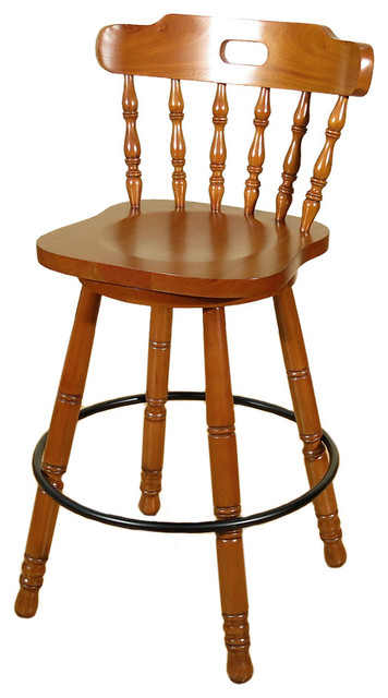 Spindle Back Swivel Barstools 29 Quot Traditional Bar