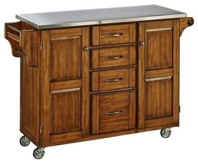 Hawthorne Collections Hawthorne Collections Kitchen Cart Natural View In Your Room Houzz