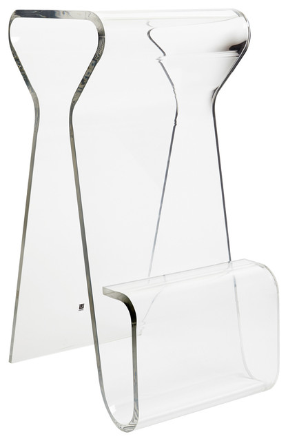 Magino Counter Stool, Clear.