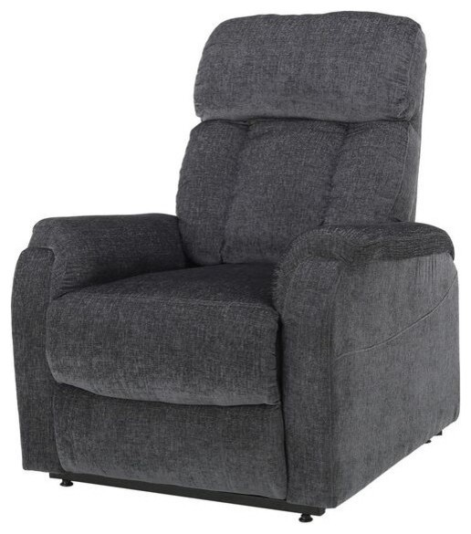 GDF Studio Edenton 2 Toned Charcoal Fabric Lift Up Recliner Chair by GDFStudio