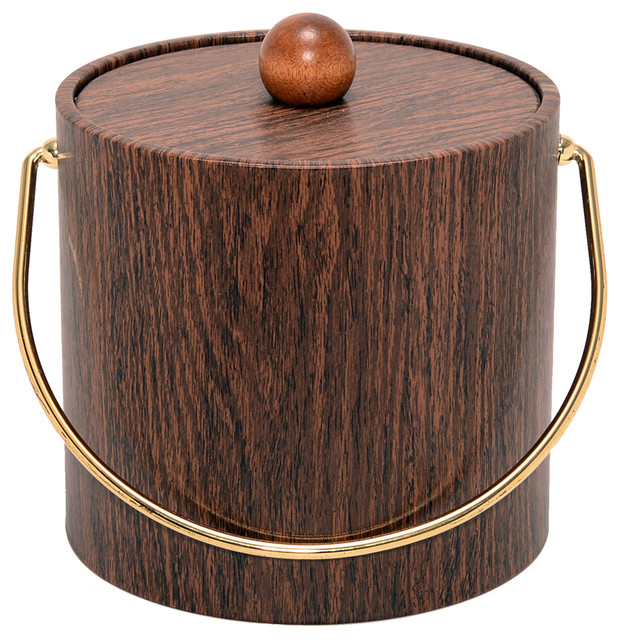 Wood Grain 3 Quart Ice Bucket Ice Tools And Buckets By