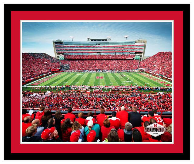Framed Nebraska Stadium Art Contemporary Prints And