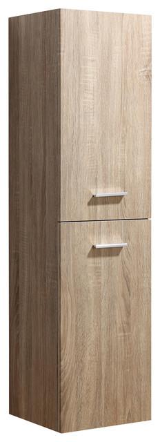 Kiss Bathroom Cabinet With Reversible Doors, Pale Wood