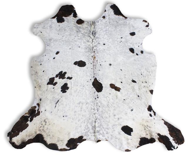 Dirty Snow Cowhide Rug, 6&x27;x7&x27;.