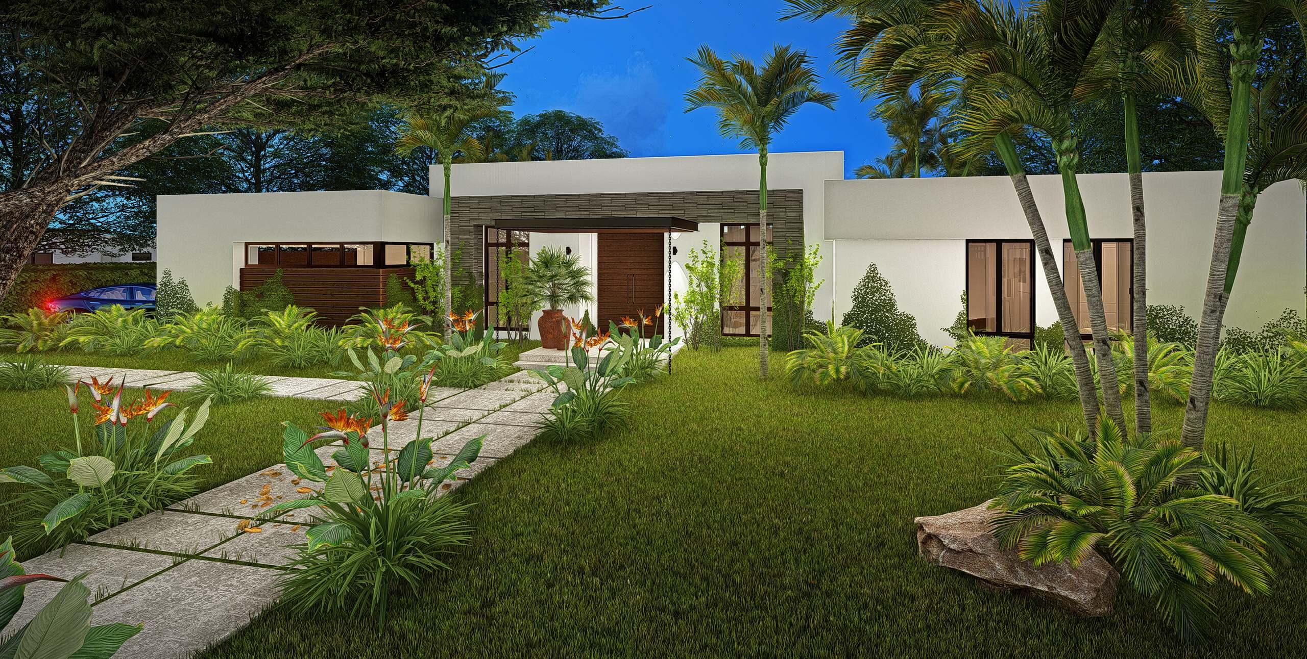 Modern Residential Rendering