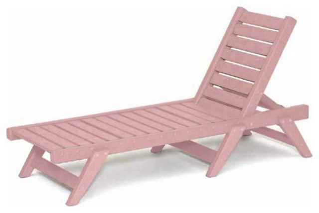 Recycled plastic chaise lounge flat design traditional for Chaise longue jardin pvc