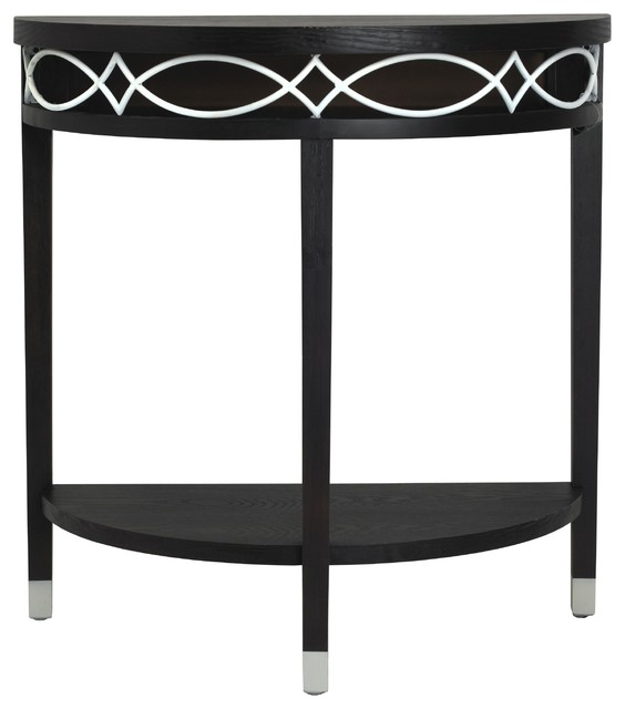 Elements black and white metal demilune table contemporary console tables by White demilune console table
