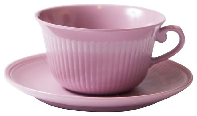 Faithful Coffee Cup With Saucer, Pink
