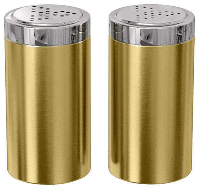 Jumbo Salt and Pepper Shakers, Gold
