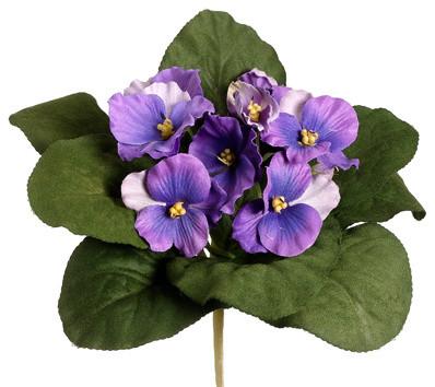 Silk Plants Direct African Violet Bush Pack Of 12 Lavender