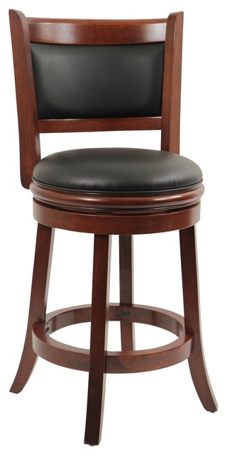 Dune Augusta Swivel Counter Stool, Cherry.