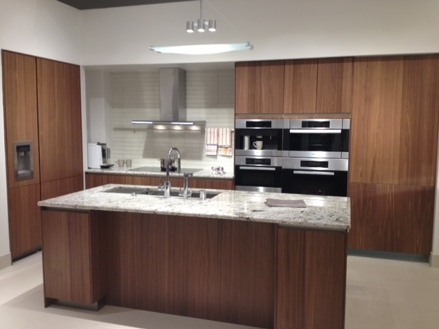 modern walnut kitchen cabinets siematic cabinetry walnut veneer contemporary kitchen 7786