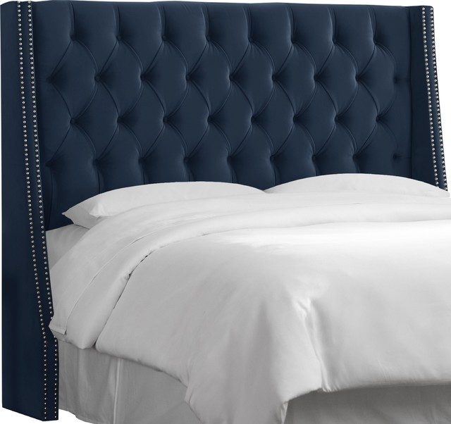 Camden Tufted Wingback Headboard, King.