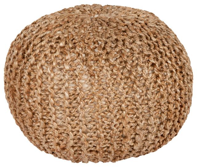 Bermuda Sphere Pouf, Khaki.