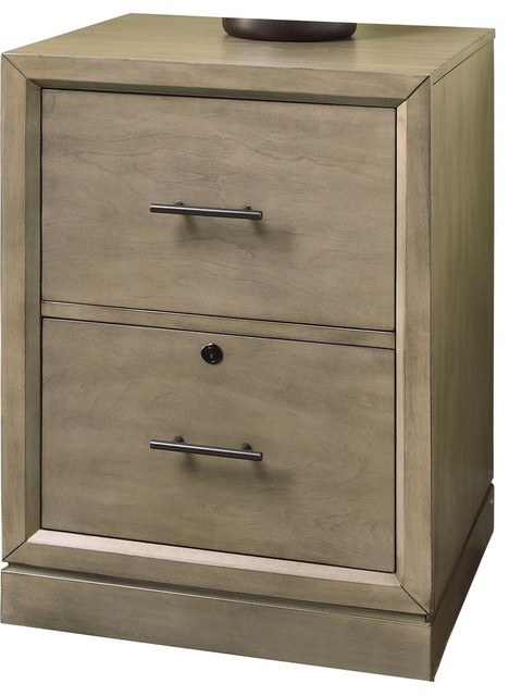 Parker House Midtown MID#375 Rolling File Cabinet In Smoked Grey