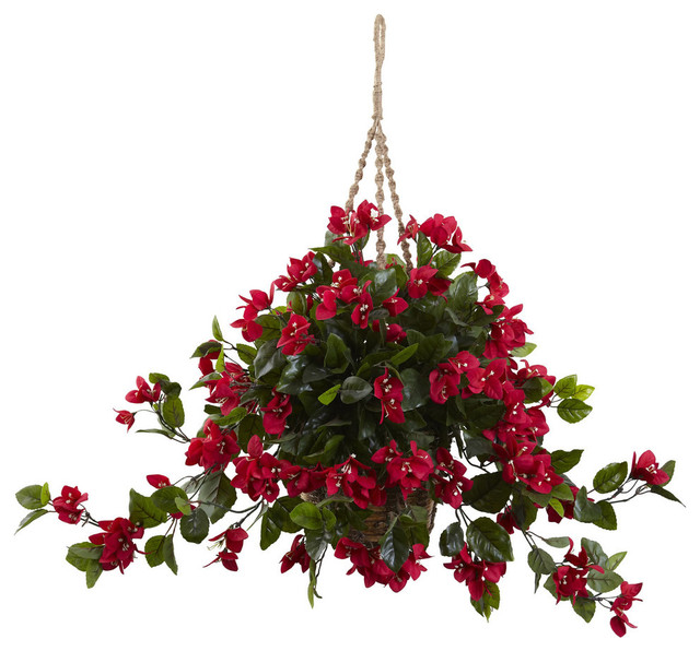 Nearly Natural UV Resistant Indoor/Outdoor Bougainvillea ...