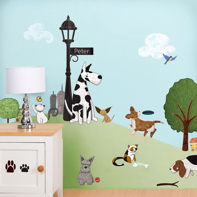 Awesome Paws Park Wall Sticker Kit   Contemporary   Wall Decals   By My Wonderful  Walls