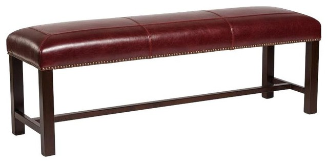 Bench Cloister 60-In Rouge Bordeaux Dark.