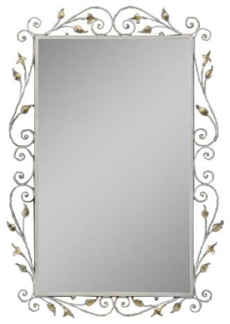 Handmade Wrought Iron Mirror, 100x100x165 cm