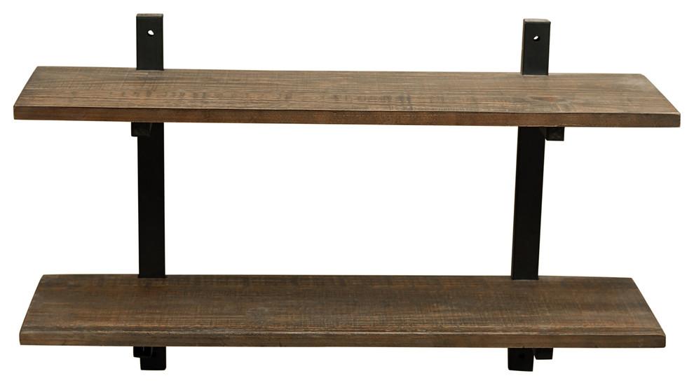 pomona 36 metal and solid wood wall shelf prvw vr
