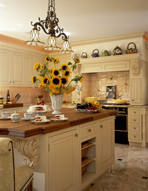 English Country Elegant Kitchen New York