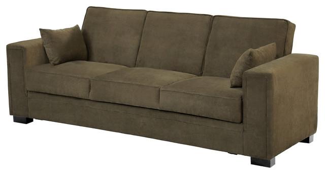 Serta Sabrina Pewter Convertible Sleeper Sofa