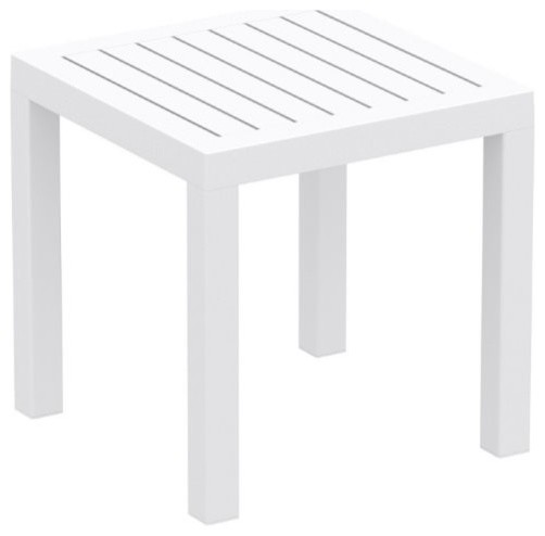 Bombora Square Side Table, White.