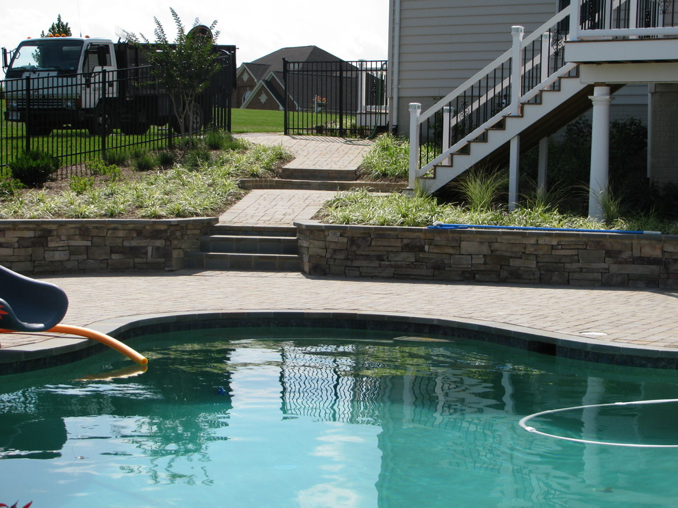Poolside Paver Decking