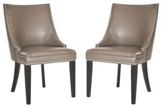 Safavieh MCR4715-SET2 Afton 22 Inch Wide Birch Accent Chairs (Set of 2)