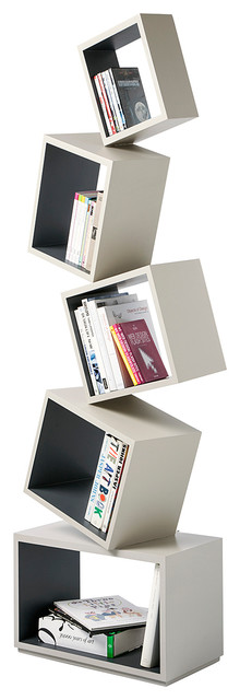 Equilibrium Bookcase - Modern Light Collection, Coal.