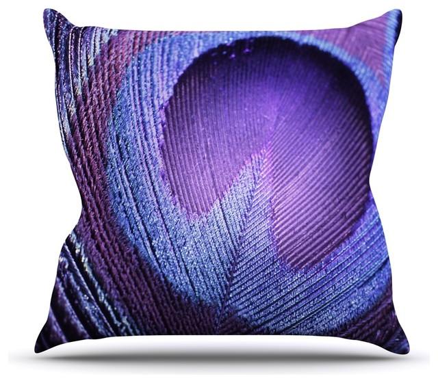 Purple Lavender Throw Pillows : Kess InHouse - Monika Strigel