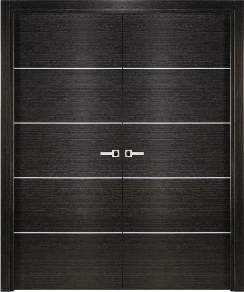 Modern Interior Double Door Italian Black Apricot Decorative Strips