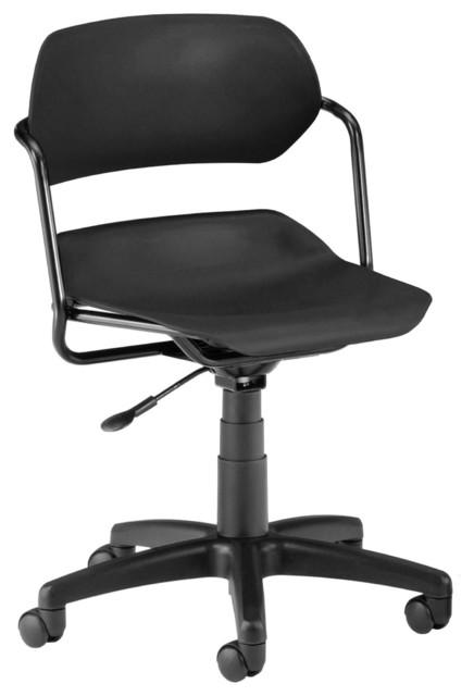 Martisa Series Armless Swivel Chair, Black