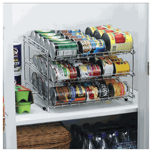 Captivating Pantry Cabinet Food Cabinets With Deluxe Chrome Canned