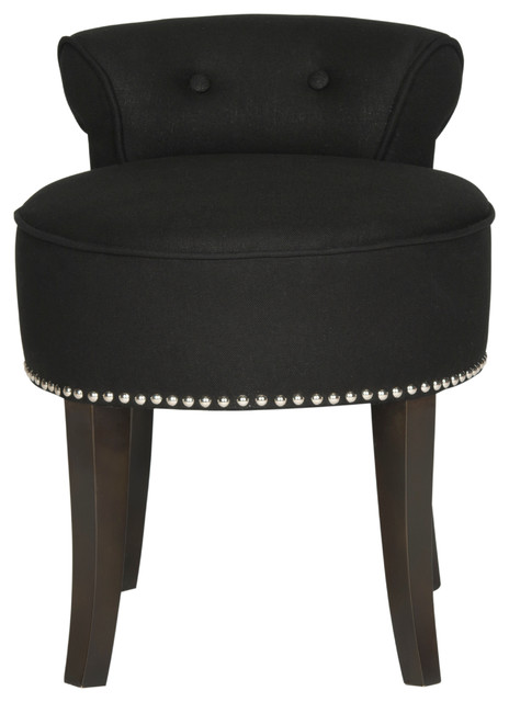Safavieh Georgia Vanity Stool, Black.