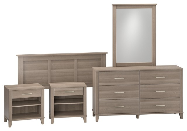 Somerset Dresser With Mirror, Headboard And 2 Nightstands