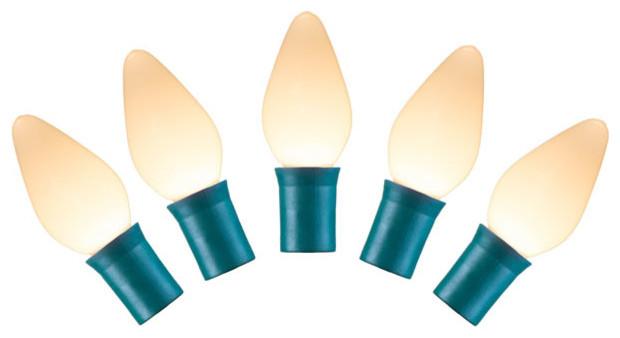 25-Light Warm Led Ceramic Lights.