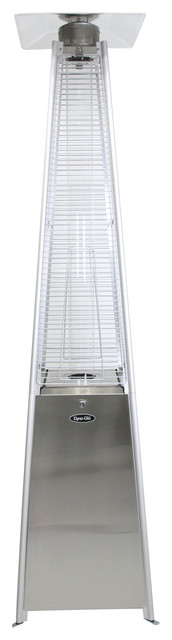 Dyna Glo 42,000 Btu Stainless Steel Pyramid Flame Patio Heater.