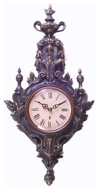 Resin Wall Clock In Antique Gold Finish Wall Clocks By