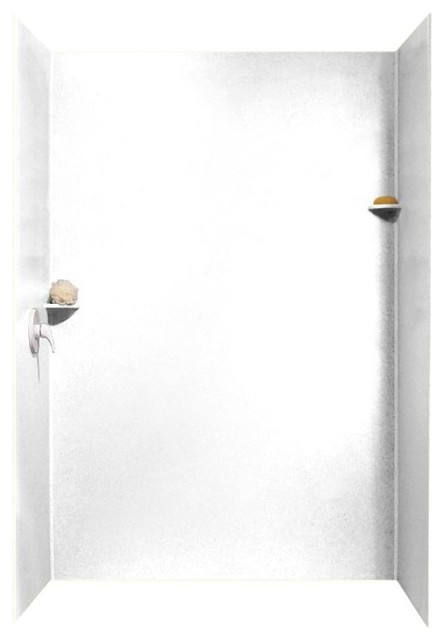 swan 36x62x96 solid surface shower wall surround white shower stalls and