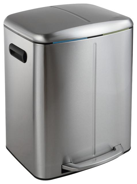 Happimess Marco 40l Soft Close Dual Compartment Trash Can
