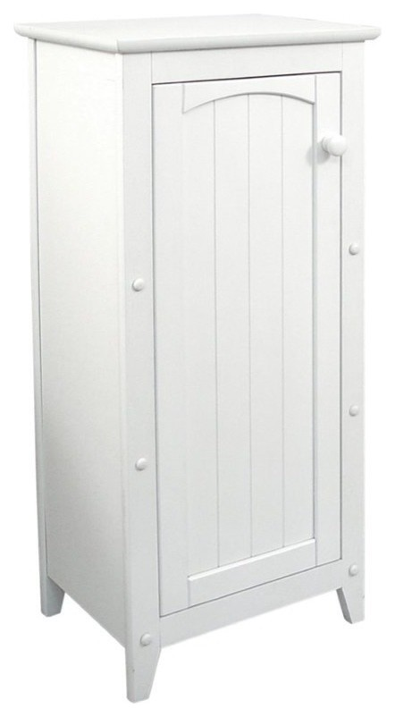 Pemberly Row Wood Storage Cabinet, White