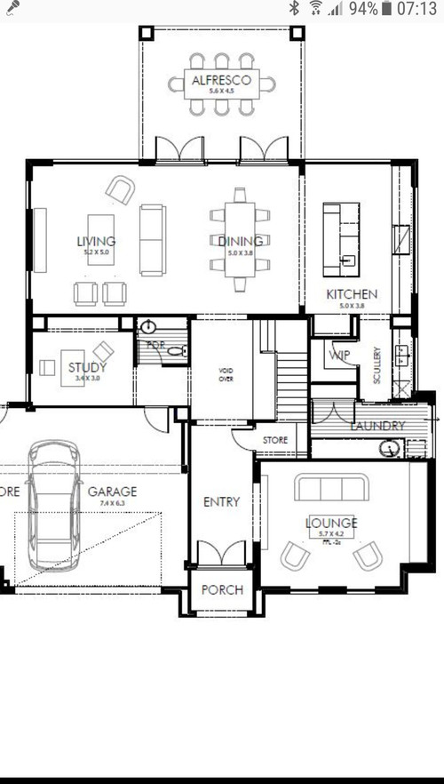 Floorplan advice on size of kitchen dining living for Home design 50m2