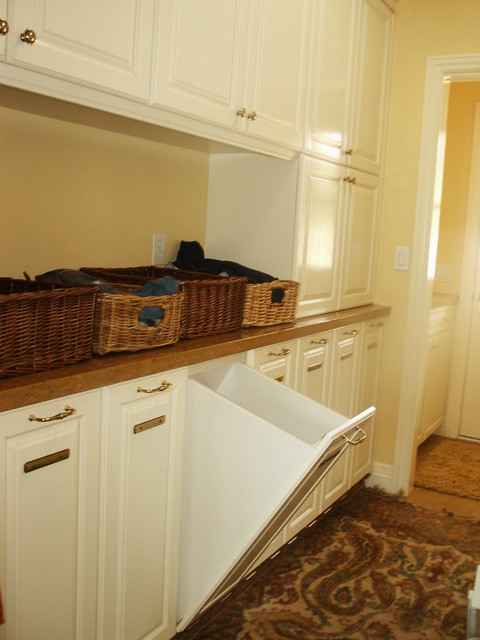 Laundry Room With Pullout Hamper Traditional Laundry
